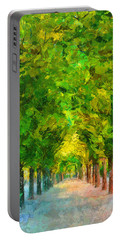 Tree Avenue In The Vienna Augarten Portable Battery Charger