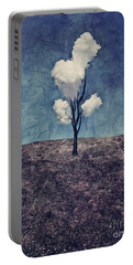 Portable Battery Charger featuring the digital art Tree Clouds 01d2 by Aimelle