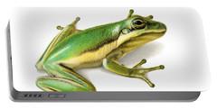 Green Tree Frog Portable Battery Charger by Sarah Batalka