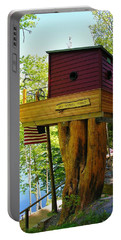 Tree House Boat Portable Battery Charger by Sherman Perry