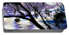 Tree In Silhouette Portable Battery Charger