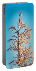 Tree In The Frozen Landscape, Cold Portable Battery Charger