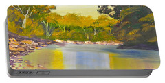 Tree Lined River Portable Battery Charger