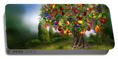 Tree Of Abundance Portable Battery Charger by Carol Cavalaris