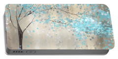 Tree Of Blues Portable Battery Charger by Lourry Legarde
