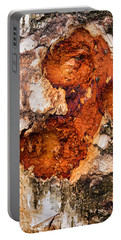 Tree Trunk Closeup - Wooden Structure Portable Battery Charger