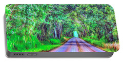 Tree Tunnel Kauai Portable Battery Charger by Dominic Piperata