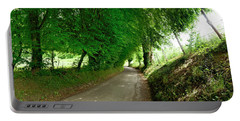 Trees Along A Road Portable Battery Charger