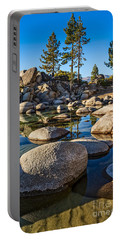Trees And Rocks Portable Battery Charger