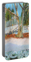 Trees And Snow Plein Air Portable Battery Charger