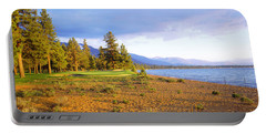 Trees In A Golf Course, Edgewood Tahoe Portable Battery Charger