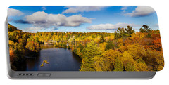 Trees In Autumn At Dead River Portable Battery Charger