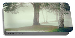 Portable Battery Charger featuring the photograph Trees In Fog by Silvia Ganora