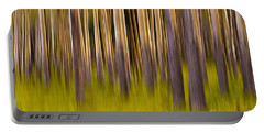 Portable Battery Charger featuring the digital art Trees by Jerry Fornarotto
