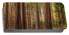Trees Of Yosemite Portable Battery Charger by Muhie Kanawati