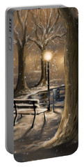 Trees Portable Battery Charger by Veronica Minozzi