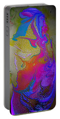 Portable Battery Charger featuring the painting Tribal Princess by Mike Breau