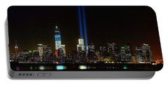 Tribute In Light From Bayonne Portable Battery Charger by Nick Zelinsky