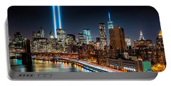 Tribute In Light Memorial Portable Battery Charger by Mihai Andritoiu