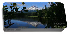Trillium Lake With Mt. Hood  Portable Battery Charger