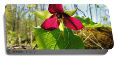 Portable Battery Charger featuring the photograph Trillium Wild Flower by Sherman Perry