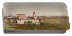 Trinita Dei Monti From The Villa Medici Portable Battery Charger