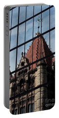 Trinity Chruch Reflected Portable Battery Charger by Kenny Glotfelty