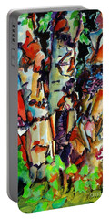 Portable Battery Charger featuring the painting Trio Birch 2014 by Kathy Braud