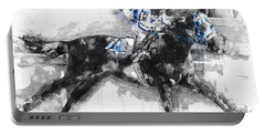 Secretariat Triple Crown 73 Portable Battery Charger by Gary Bodnar