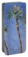 Palm Trees Tropical Beach Vacation  Portable Battery Charger