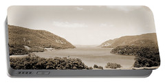 Trophy Point North Fro West Point In Sepia Tone Portable Battery Charger