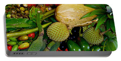 Tropical Fruits Portable Battery Charger by Carey Chen