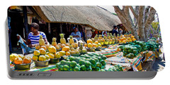 Tropical Fruits In Market In Saint Lucia In South Africa Portable Battery Charger