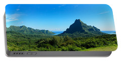 Tropical Moorea Panorama Portable Battery Charger