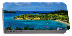 Portable Battery Charger featuring the photograph Tropical Paradise In The Virgin Islands by Greg Norrell
