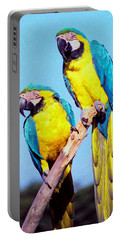 Tropical Parrots In San Francisco Portable Battery Charger