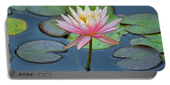 Tropical Pink Lily Portable Battery Charger by Cynthia Guinn