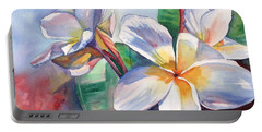 Tropical Plumeria Flowers Portable Battery Charger