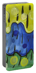 Portable Battery Charger featuring the painting Tropical Rain by Stephen Lucas