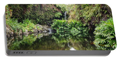 Tropical Reflections Portable Battery Charger by Denise Bird