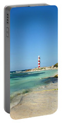 Tropical Seascape With Lighthouse Portable Battery Charger