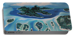 Portable Battery Charger featuring the painting Tropical Skies by Dianna Lewis