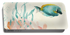Tropical Teal Coral Medley II Portable Battery Charger