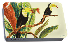 Tropical Toucans II Portable Battery Charger by Linda Baliko