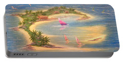 Tropical Windy Island Paradise Portable Battery Charger