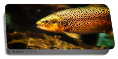 Trout Swiming In A River Portable Battery Charger