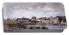 Trouville View Toward Deauville On Market Day Portable Battery Charger