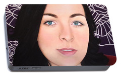 Portable Battery Charger featuring the painting True Beauty - Natashia Heald by Malinda Prudhomme