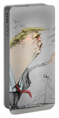 Trump In A Mission....much Ado About Nothing. Portable Battery Charger by Ylli Haruni