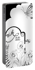 Portable Battery Charger featuring the digital art Truth Time by Carol Jacobs